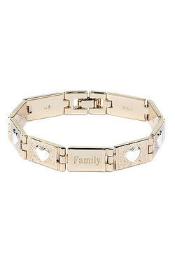 Gold Plated Family Message Bracelet