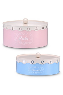 Set Of 2 Vintage Cake and Biscuit Tins