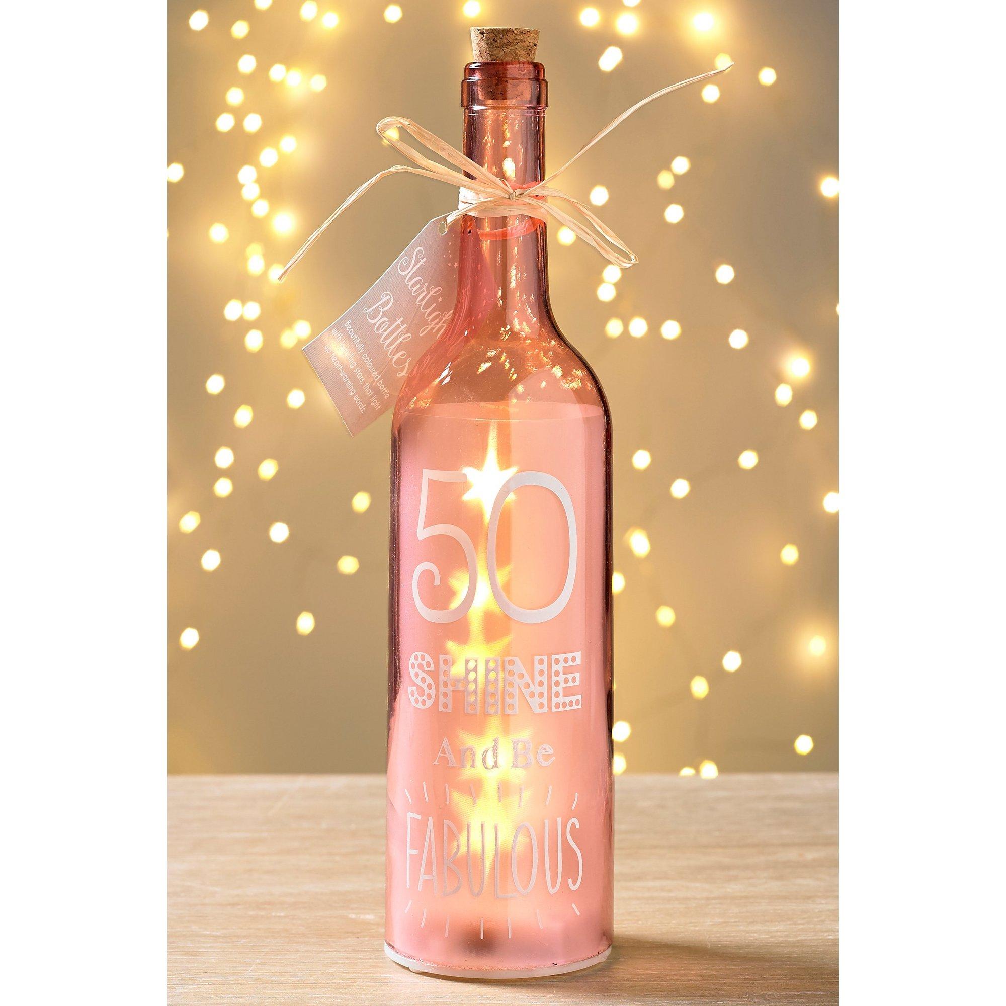Image of 50th Birthday Starlight Bottle