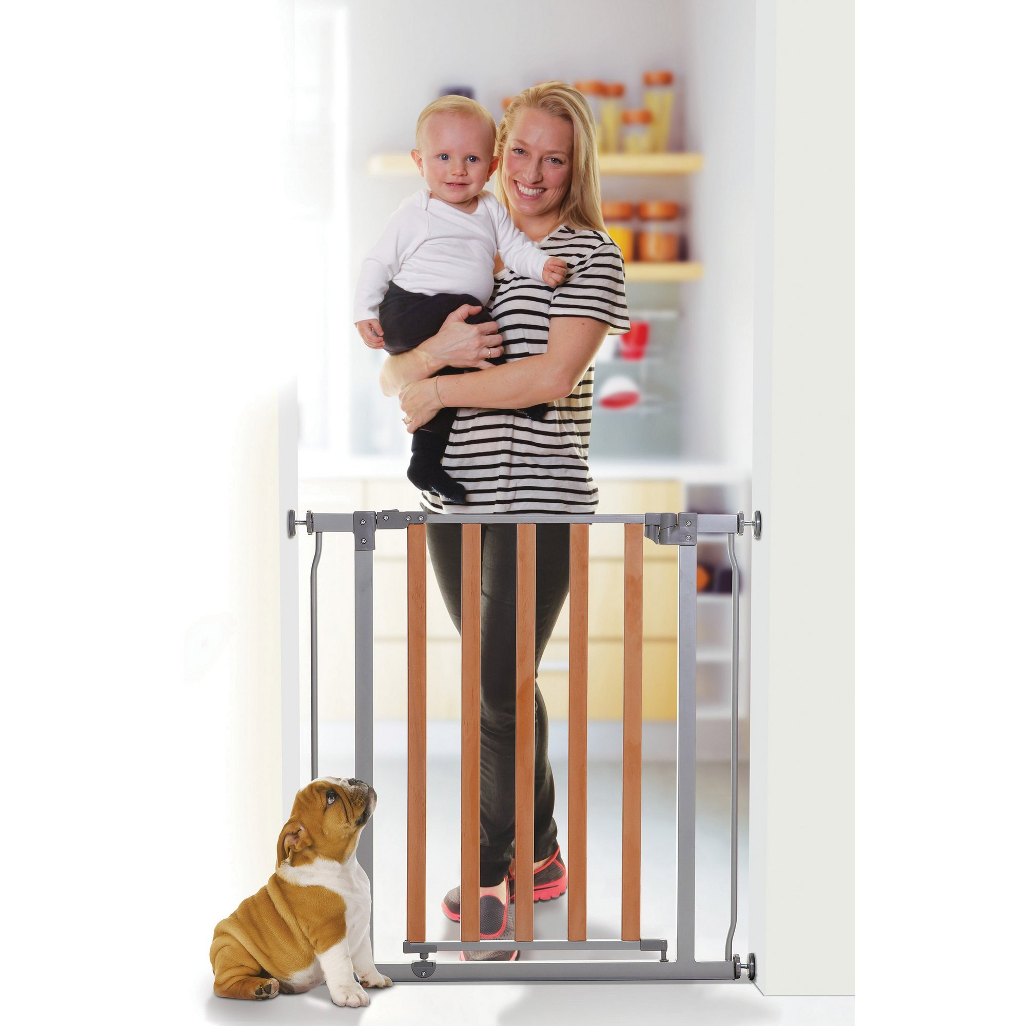 Image of Cosmopolitan Wood/Metal Safety Gate - Pressure Mounted