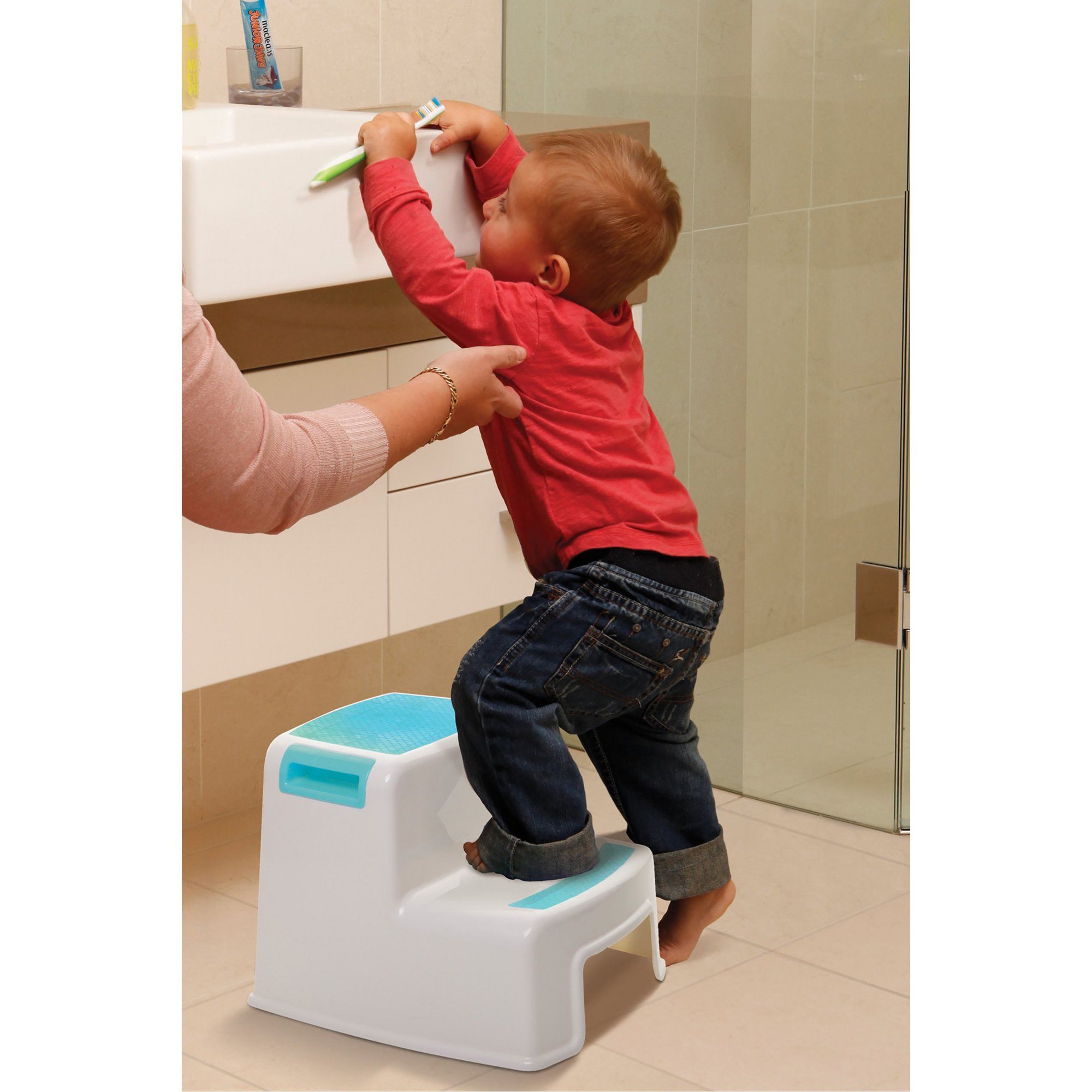 Image of 2 Height Aqua Step Stool