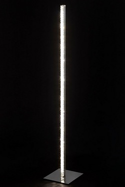 Glass and Chrome LED Floor Lamp