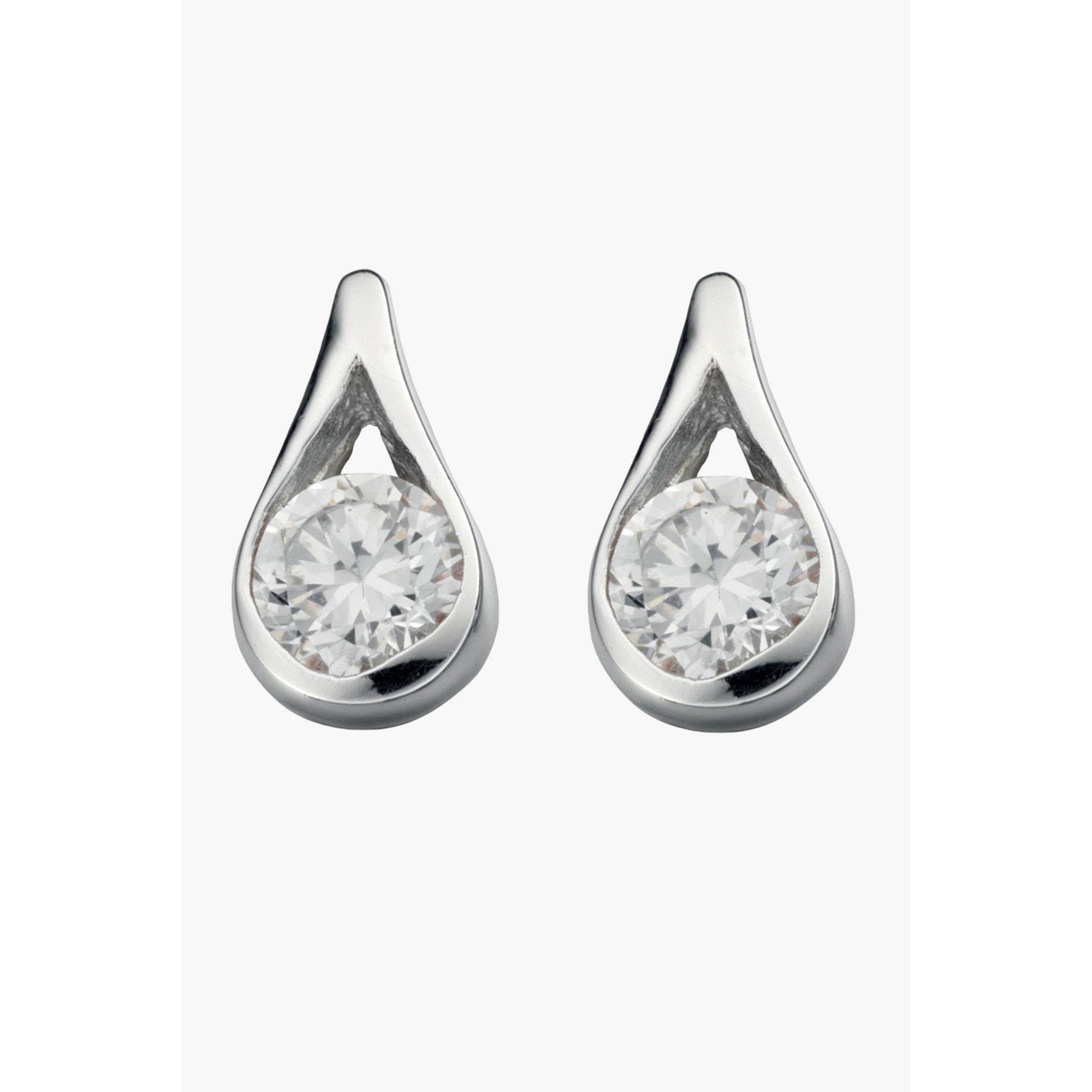 Image of Clear Teardrop Earring