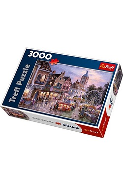 3000 Piece Puzzle - Fairground Comes To Town
