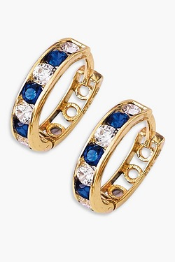 9ct Blue Gold Creole Earrings
