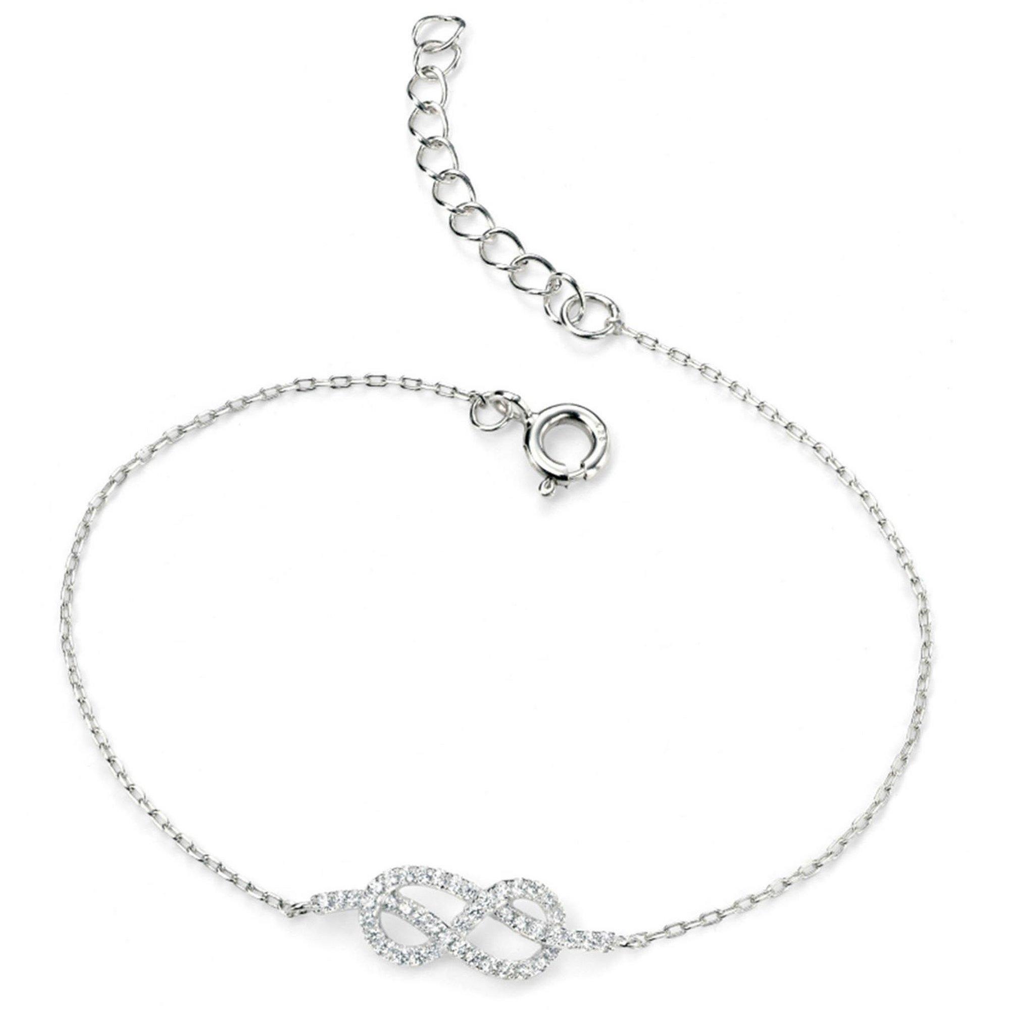 Image of Clear CZ Infinity Bracelet 17+3Cm