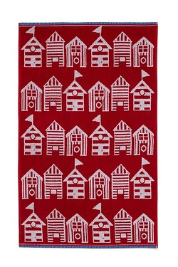 Nautical Whitstable Beach Hut Towel