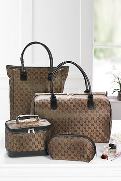 4 Piece Jacquard Travel Set