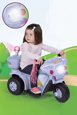 Ride-On Electric Bike - Purple Princess