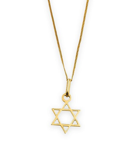 9ct gold star of david pendant studio image for 9ct gold star of david pendant from studio aloadofball Image collections