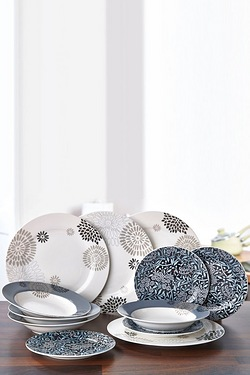 12-Piece Floral New Bone China Dinner Set