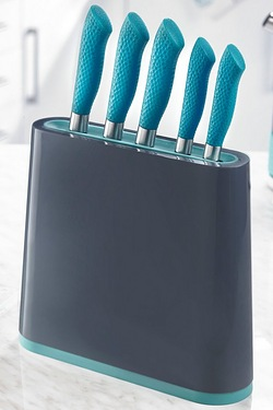 5-Piece Soft Handled Knife Set and Block