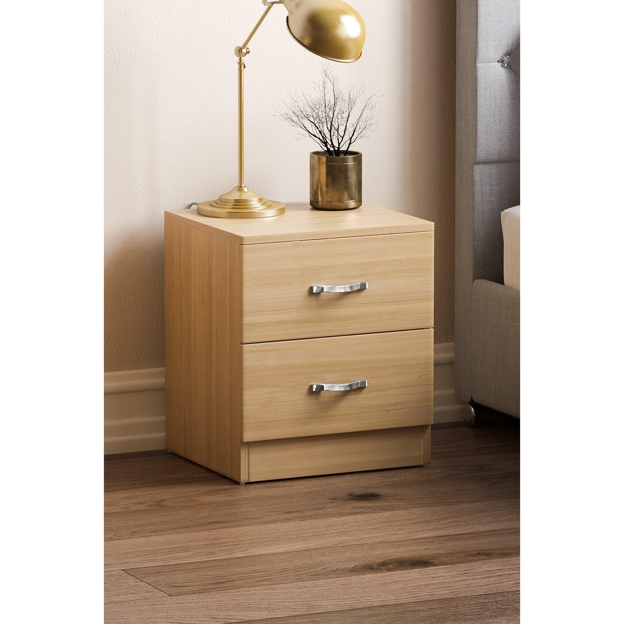 Image of 2 Drawer Bedside Table