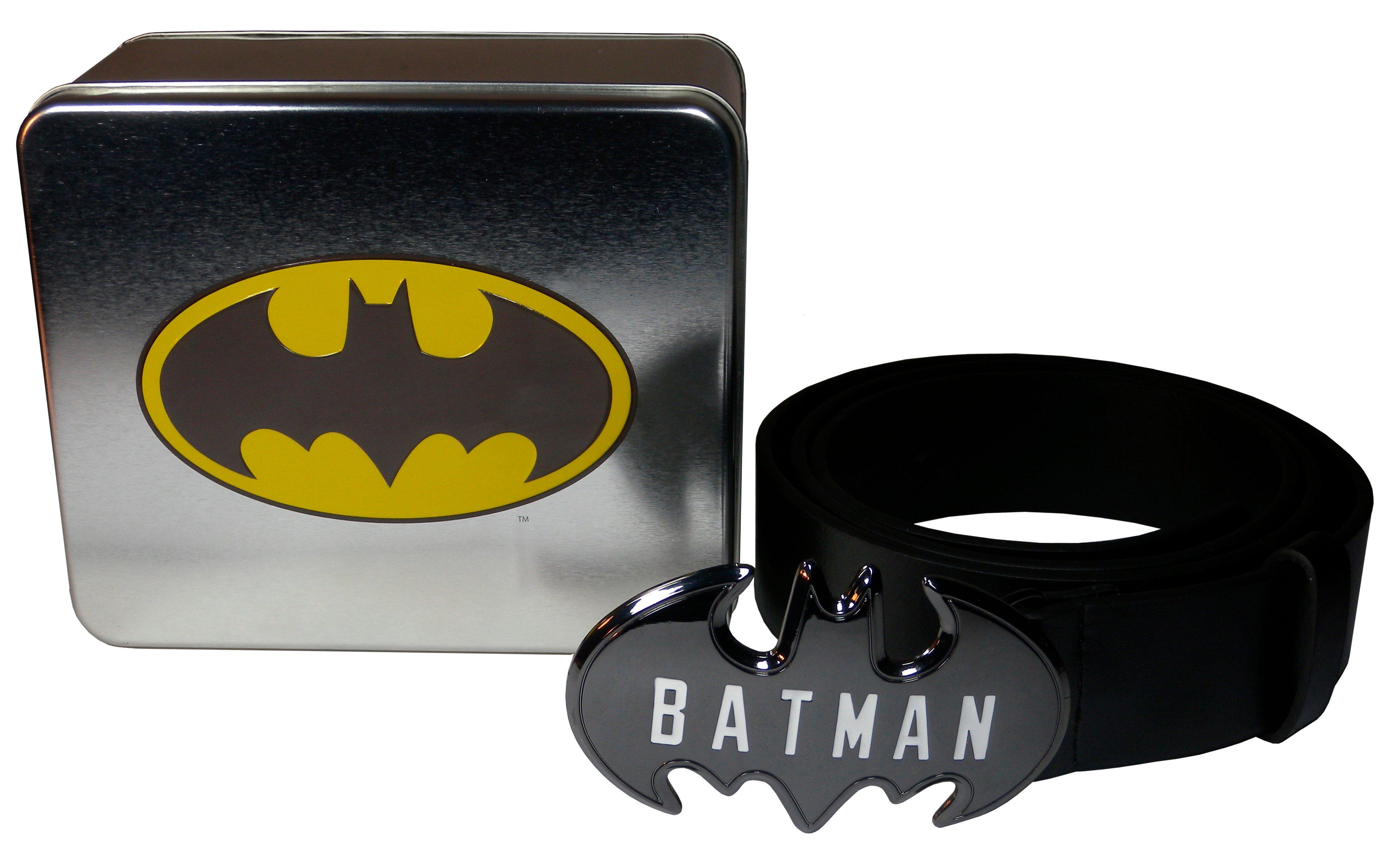 Batman Logo Buckle Belt in a Tin