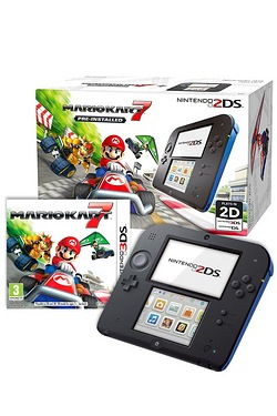 2DS Blue/Black + Mario Kart 7