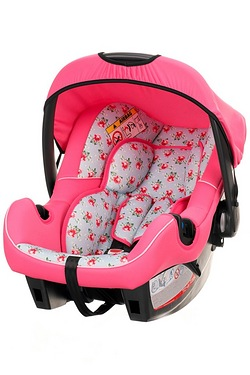Obaby Chase 0+ Car Seat - Cottage Rose With Chase Adaptor