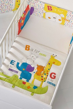 Obaby B Is For Bear Quilt and Bumper - Happy Safari