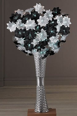 Large Vase With Fibre Optic Flowers