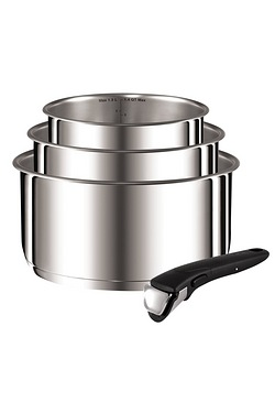 Tefal Ingenio Stainless Steel 4 Piece Pan Set