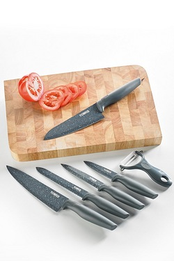 Tower 6-Piece Knife Set and FREE Chopping Block