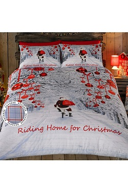 Riding Home For Christmas Duvet Set