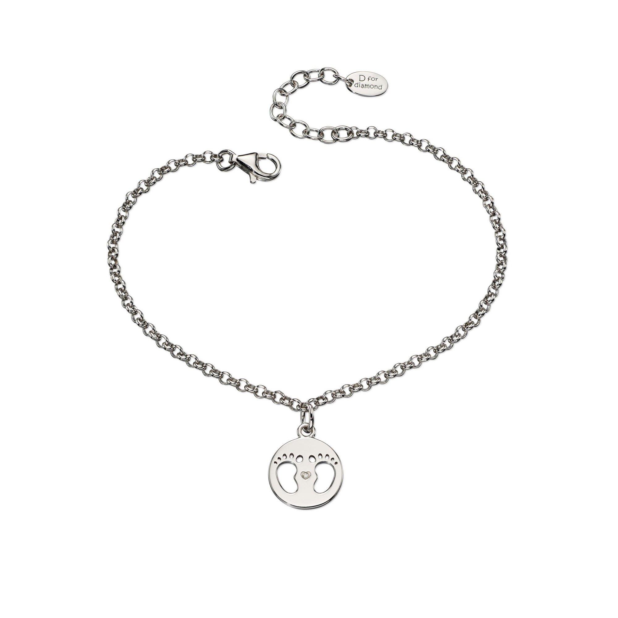 Image of D For Diamond Footprint Bracelet