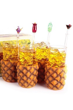 Mixology Pineapple Glasses - 4 Pack
