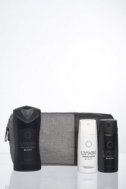 Lynx Black Washbag Gift Set