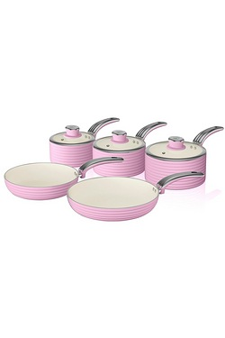 Swan Retro 5 Piece Pan Set