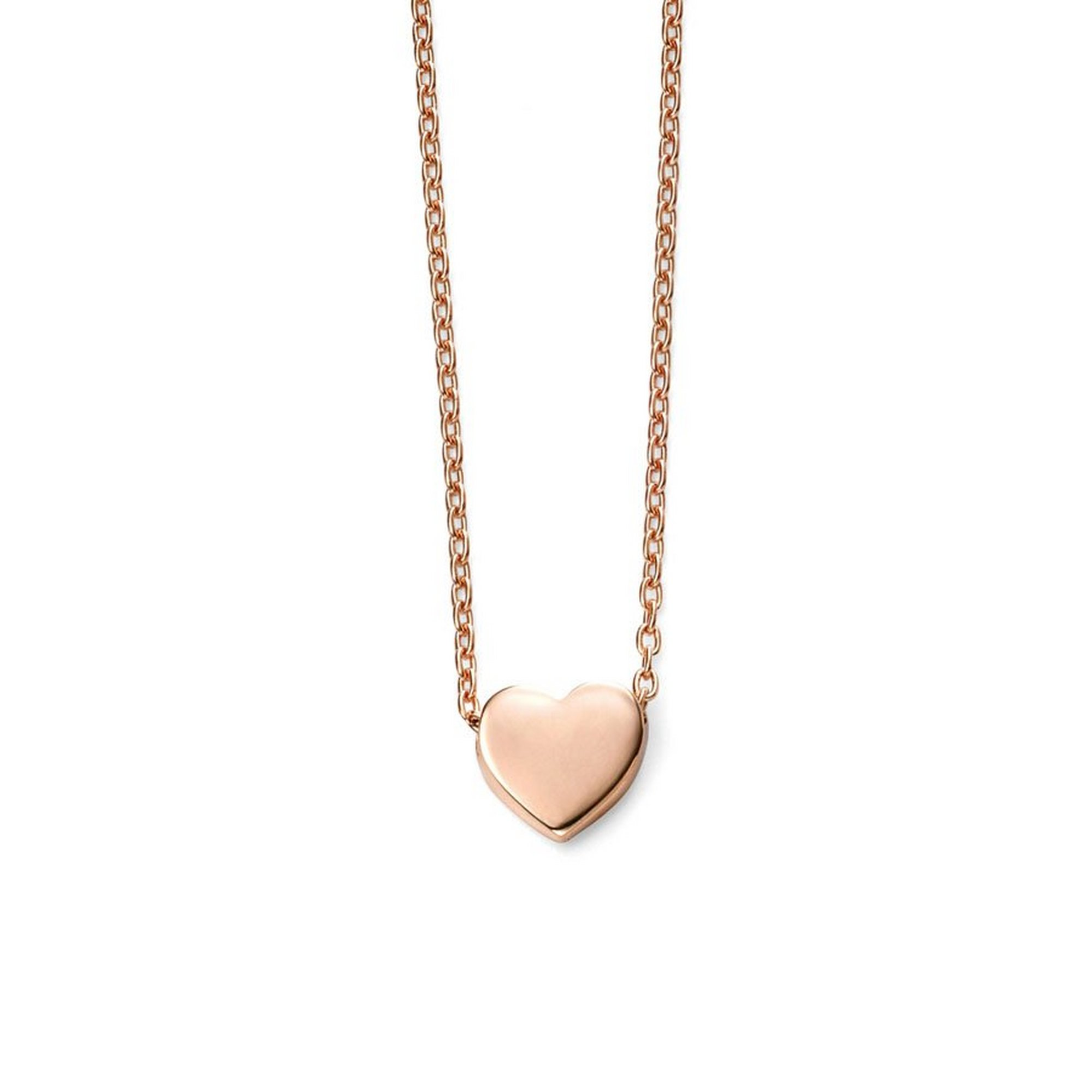 Image of 9ct Rose Gold Heart Charm Necklace