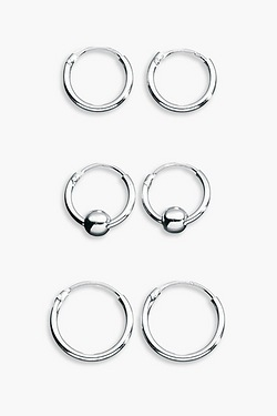 Silver Hoops + Free Running Ball Multipack