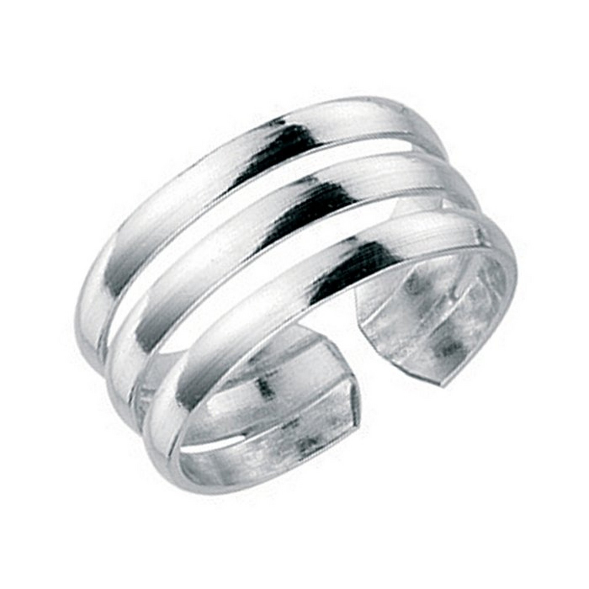 Image of Sterling Silver Three Band Toe Ring