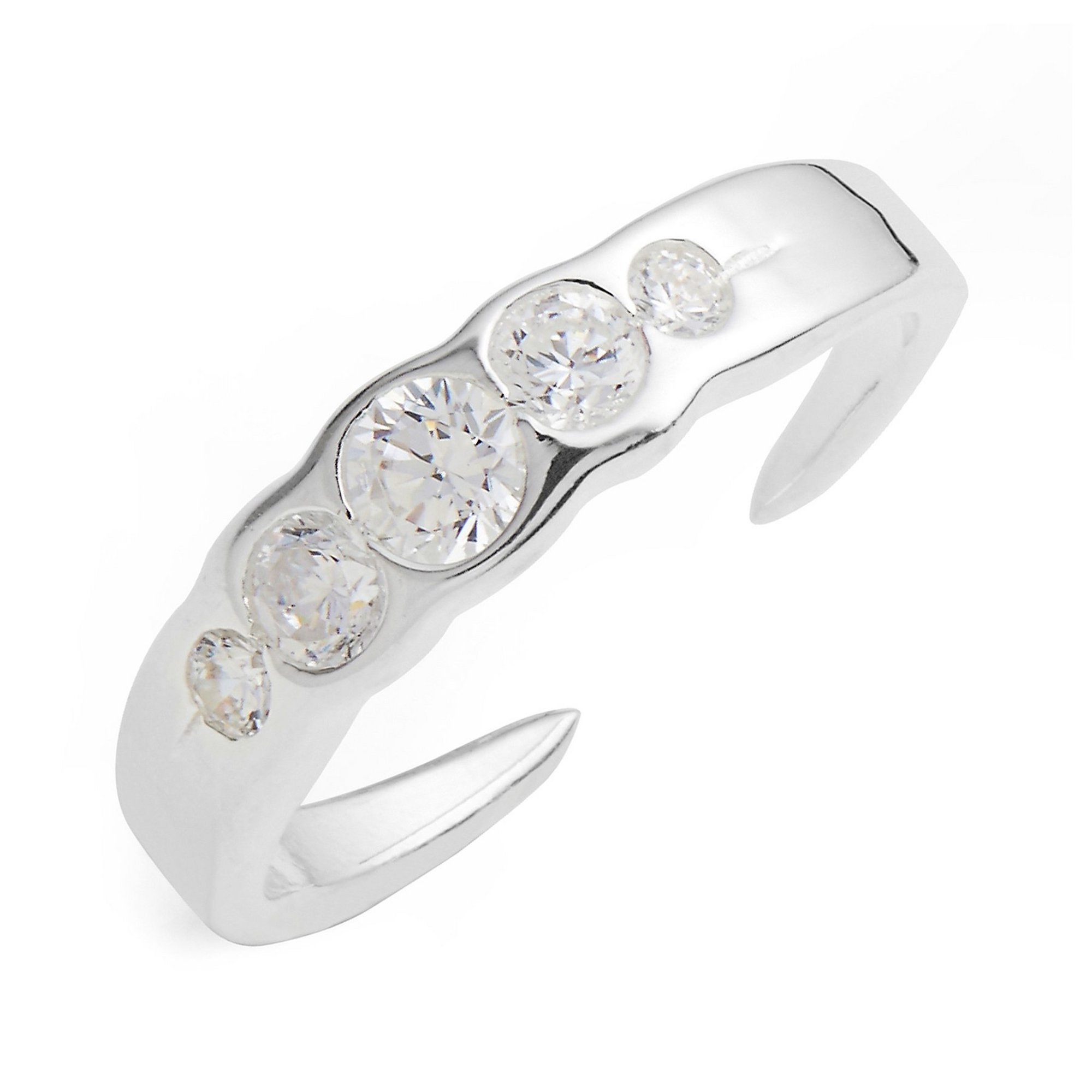 Image of Sterling Silver 5 Setting Toe Ring