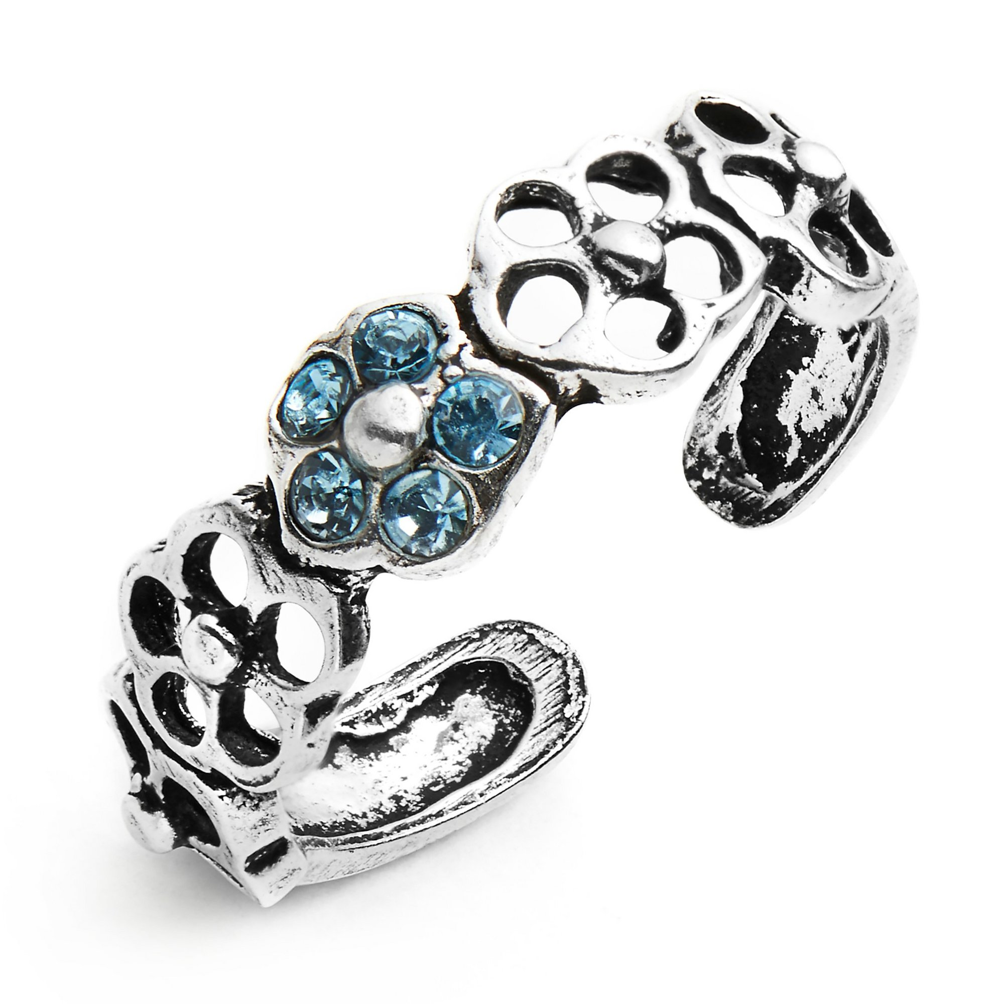 Image of Sterling Silver Flower Toe Ring