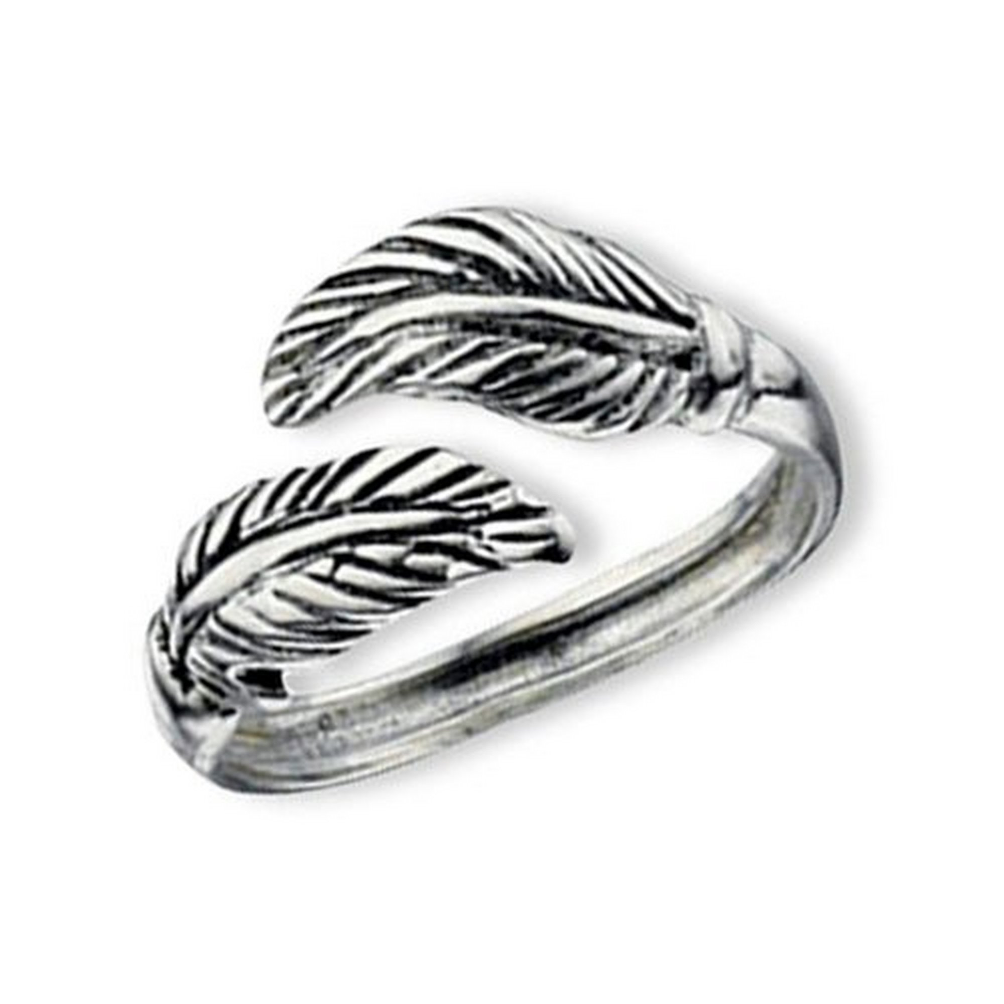 Image of Sterling Silver Leaf Toe Ring