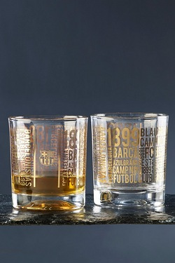 Football Whisky Glasses - Barcelona