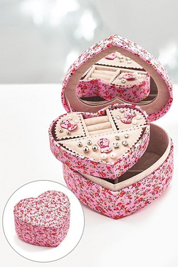 Vintage Heart Jewellery Box