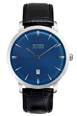 Hugo Boss Traditional Black Leather Strap Watch