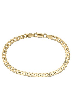 Gold Plated Silver Curb Bracelet