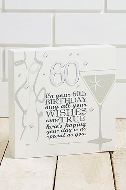 Said with Sentiment  - 60th Birthday Wall Art