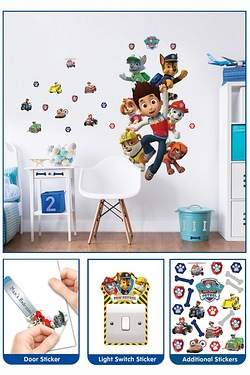 Paw Patrol Large Character Sticker Set