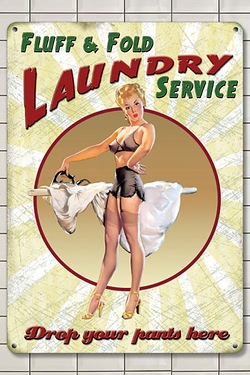 Fluff and Fold Laundry Service Sign