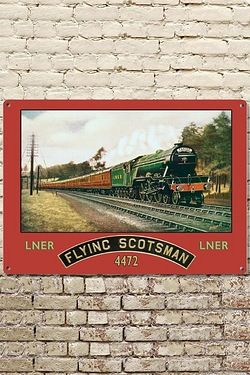 The Flying Scotsman Train Sign