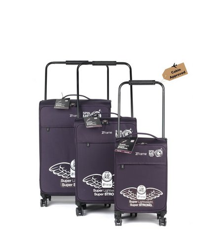 3 Piece Z Frame Double Wheel Suitcase Set | Studio