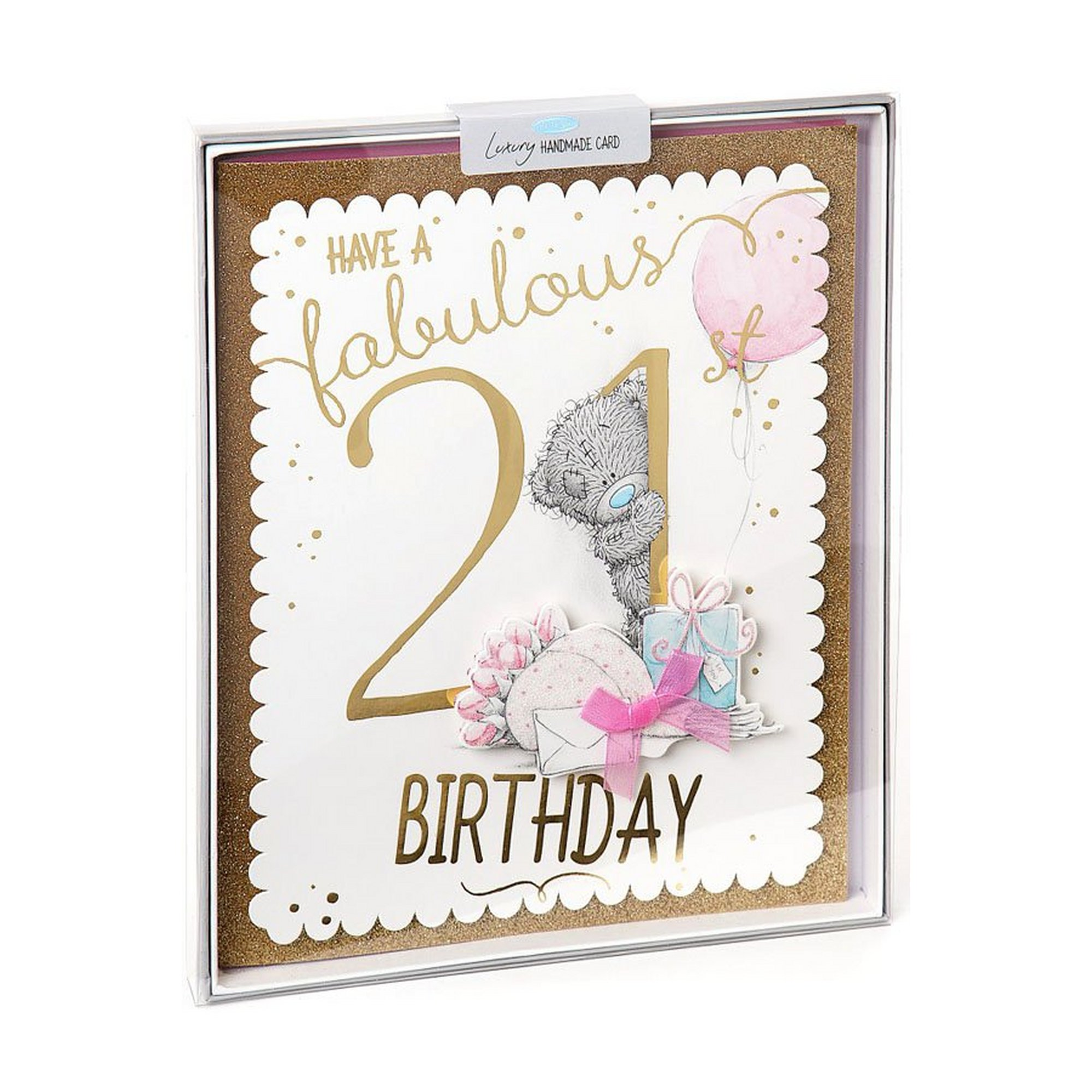 Image of Me To You 21st Birthday Boxed Card