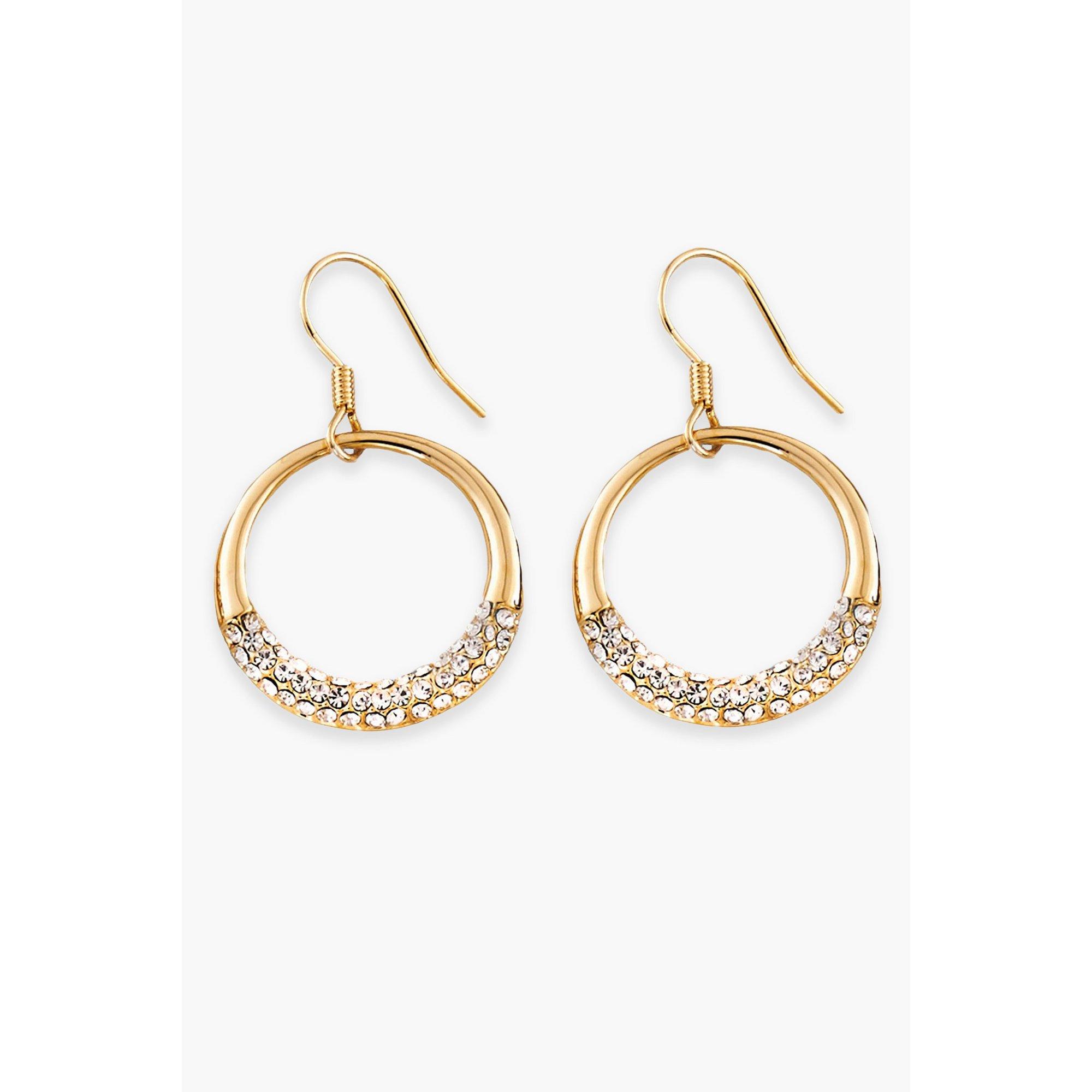 Image of 18ct Gold Plated Hoop Earrings