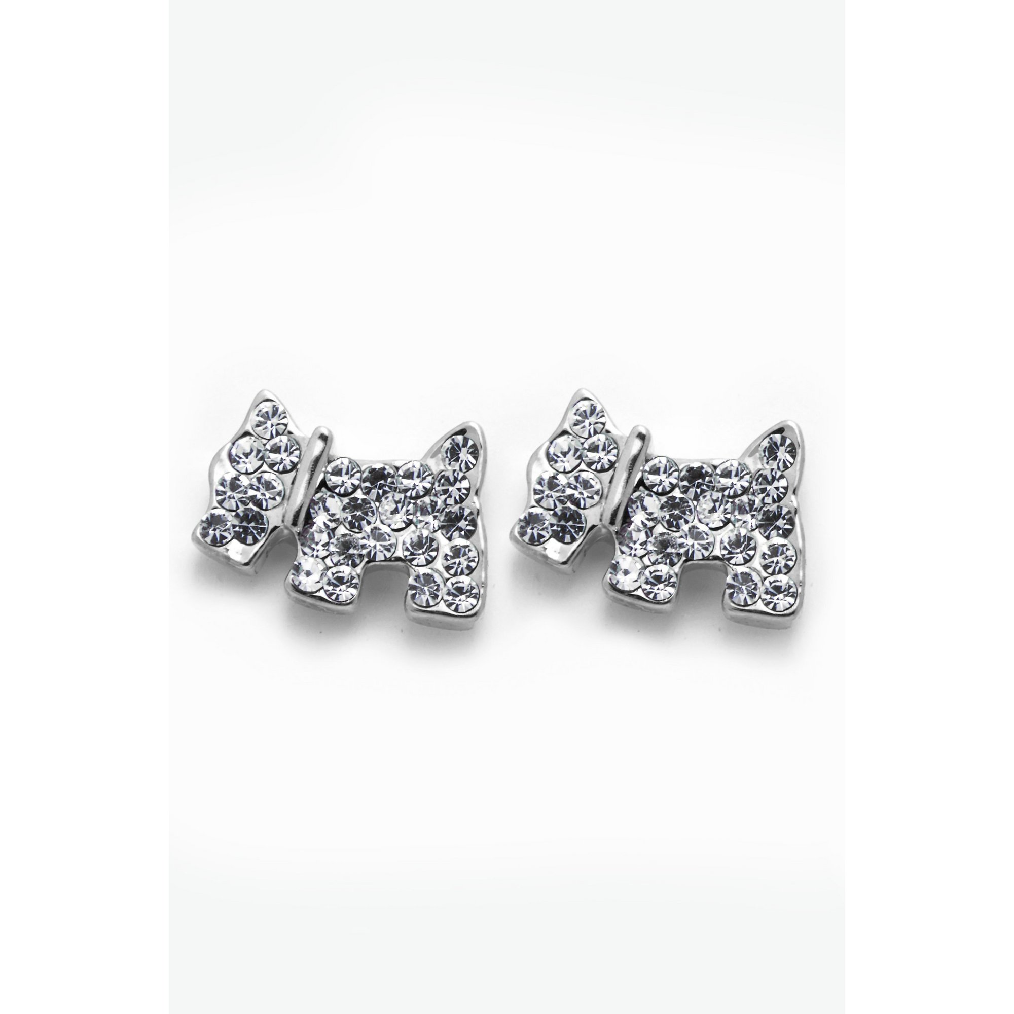 Image of 18ct Gold Plated Scottie Dog Stud Earrings