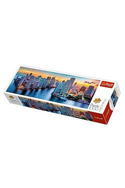 1000 Piece Panorama Puzzle - Miami after Dark