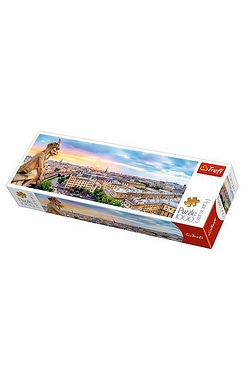 1000 Piece Panorama Puzzle - View From The Cathedral Of Notre - Dame Paris