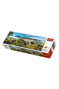 1000  Piece Panorama Puzzle - Schliersee Lake Bavarian Alps